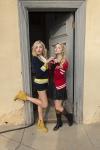 Peyton & Stefanie put their hearts up!